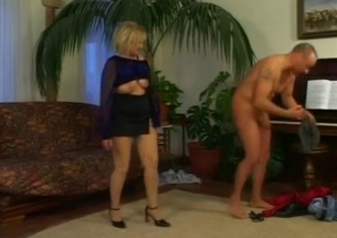 Blonde mom eats a tasty jizz