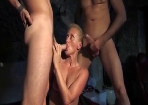 Older sister is sucking her horny brothers