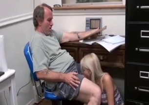 Nice granddaughter is giving a sweet fellatio