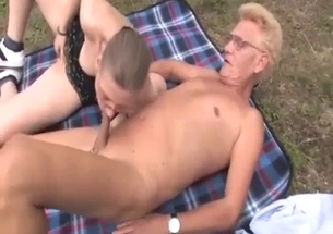 Old Brother And Sister Have Awesome Outdoor Incest