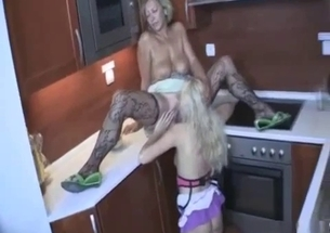 Daughter sensually licks her mom pussy