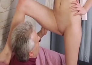 Gorgeous granddaughter gives an awesome cock sucking