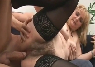 Busty mom is trying anal sex with a son