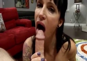 Cousin licks nasty rod and gets dirty cream