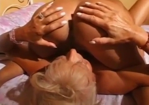 Mom and her sister fucks with a strapon