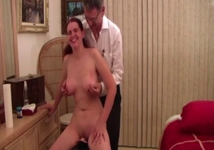 My daddy is stimulating my horny sister
