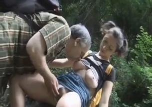 Busty hottie gets licked by her own dad